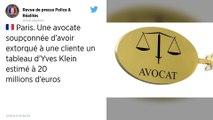 Une avocate parisienne accusée d'avoir volé un tableau d'Yves Klein à une octogénaire