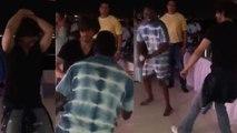 Shahrukh Khan & DJ Bravo's Lungi Dance at Tribango Knight Riders party; Watch Video |FilmiBeat