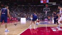 Coupe du Monde FIBA 2019 - 1/4 finale - Passe entre les jambes serbes !