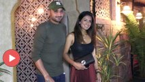 SPOTTED : Harbhajan Singh With Wife Geeta Basra At Bayroute Juhu