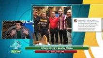 Edwin Luna les calla la boca a los que dicen que se enojó con Alann Mora.   Venga La Alegría