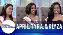 Fast Talk with Mutya Pilipinas Beauty Queens Tyra Goldman, April Short and Klyza Castro | TWBA