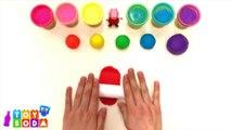 [4K] DIY Play-Doh Learn Make Rainbow Umbrella Raindrop Toy Soda