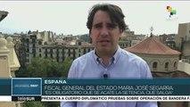 """España: fiscal general llama a acatar la sentencia sobre el """"procés"""""""