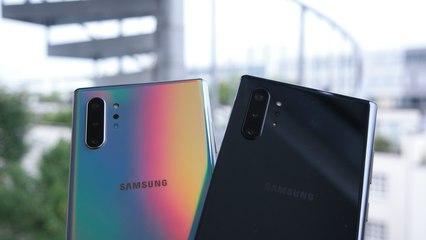Samsung Galaxy Note 10+ Unboxing (Deutsch) und Größenvergleich