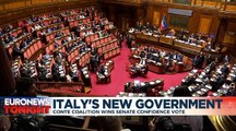 Italy's new government can get to work after getting senators' backing