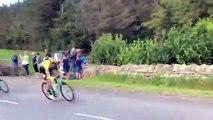 Double chute sur le tour cycliste d'angleterre 2019 !
