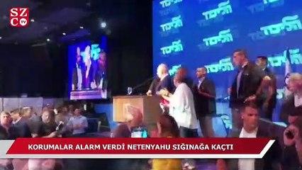 Korumalar alarm verdi Netanyahu sığınağa kaçtı!