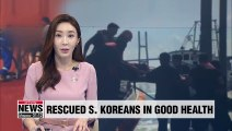 4 S. Korean crew members rescued from 'Golden Ray' are healthy and discharged from hospital