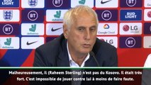 """Kosovo - Challandes : """"Sterling est l'un des meilleurs joueurs du monde"""""""