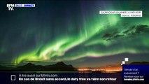 Magnifique photo d'aurores boréales capturée ce lundi en Islande
