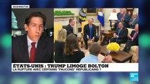 """""""En limogeant Bolton, Trump se prive de l'aile la plus conservatrice de son parti"""""""