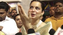 Kangana Ranaut Visits Andheri Cha Raja To Seek Bappa's Blessings