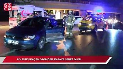 Polisten kaçan otomobil kazaya sebep oldu: 1 yaralı