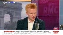 """Insultes dans les stades : """"L'erreur fondamentale est de distinguer racisme et homophobie"""" selon Adrien Quatennens"""