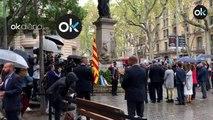 Ponen el himno de España a todo volumen en pleno acto de la Diada
