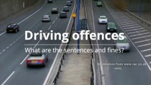 Driving offences - What are the sentences and fines