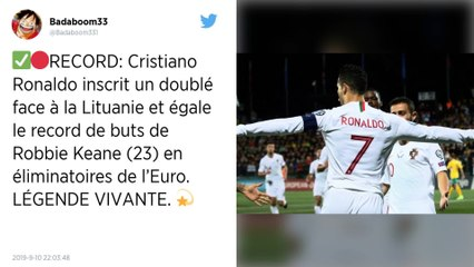 Qualifications Euro 2020 : Cristiano Ronaldo auteur d'un quadruplé porte le Portugal