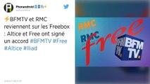 Iliad et Altice trouvent un accord pour la diffusion de BFMTV via les Freebox