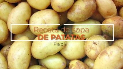 Receta de sopa de patatas fácil