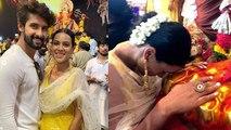 Nia Sharma & Ravi Dubey seek blessings from Ganpati Bappa during Ganesh utsav   FilmiBeat