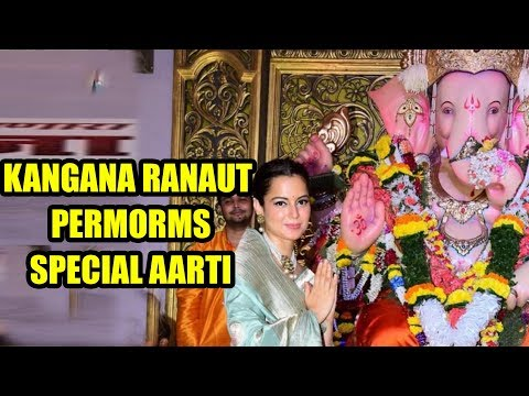 Kangana Ranaut performs special Aarti at Andhericha Raja Ganpati