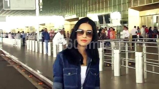 Bollywood Actress Amrita Rao Spotted at Mumbai Airport | watch video