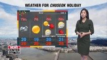 Light rain across the nation, Chuseok under sunny spells _ 091119