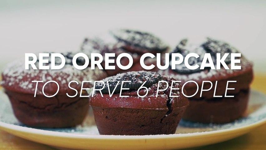 Red Oreo Cupcake