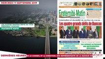 Le Titrologue du 11 septembre 2019- Bédié- je crains que ce tripatouillage de la constitution soit un problème...