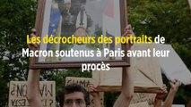 Les décrocheurs des portraits de Macron soutenus à Paris avant leur procès