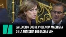 La lección de la ministra Dolores Delgado sobre la violencia machista a Vox