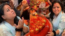 Bharti Singh seeks blessing from Lalbaugcha Raja without Haarsh Limbachiyaa | FilmiBeat