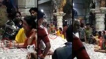 महिला बैग में भरकर लाई लाखों रुपए और मंदिर के दानपात्र में डाल गई, वीडियो वायरल