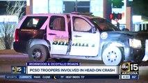 PCSO: Deputies hurt in crash in Queen Creek