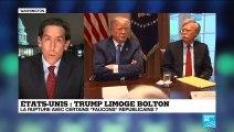 """Limogeage de Bolton : """"Le président est désormais entouré que de trumpistes convaincus"""""""