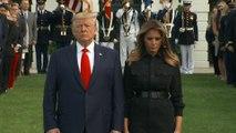 Donald et Melania Trump observent un moment de silence pour les victimes des attentats du 11 septembre 2001