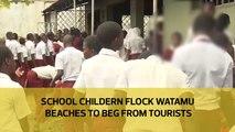 School children flock Watamu beaches to beg from tourists
