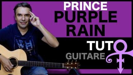 Apprendre PURPLE RAIN - Prince - Le TUTO de GUITARE Facile + TAB