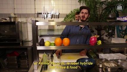 Salade d'asperges vertes et éperlans frits dans la cuisine d'Animal Kitchen