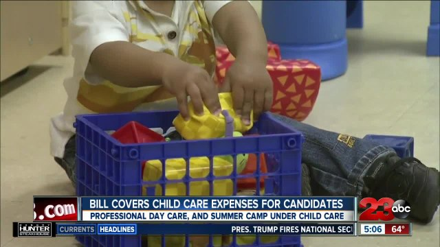 California bill coves childcare expenses for candidates