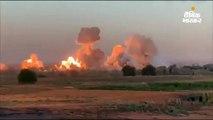 अमेरिका ने आतंकी संगठन आईएस के ठिकानों पर 36,000 किलो बम गिराए