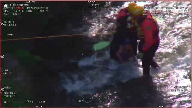 Authorities release video of man and dog rescued from San Joaquin River
