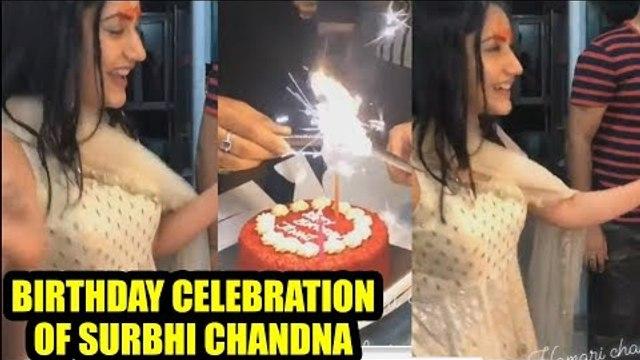 Birthday celebration of Surbhi Chandna by her IshqBaaaz gang