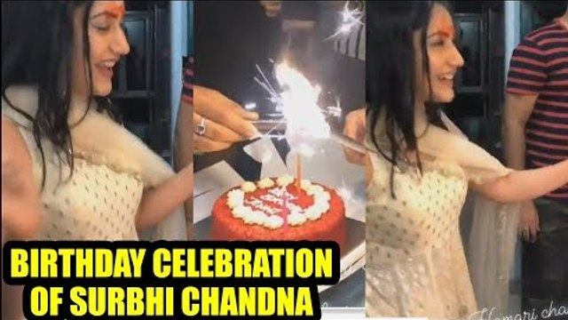 Birthday celebration of Surbhi Chandna by her IshqBaaaz gang