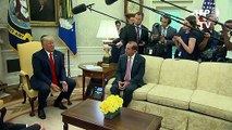 Trump no descarta levantar sanciones a Irán para reunirse con Rohani