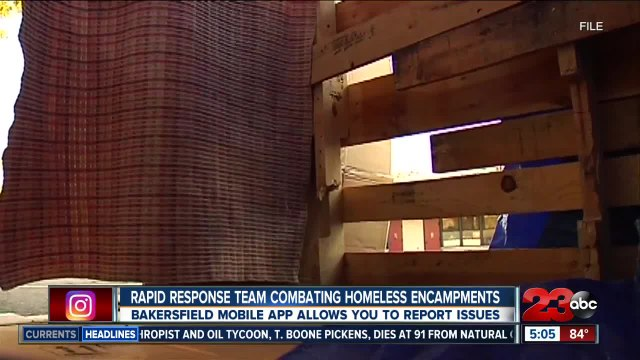 New feature on city app allows people to report homeless encampments