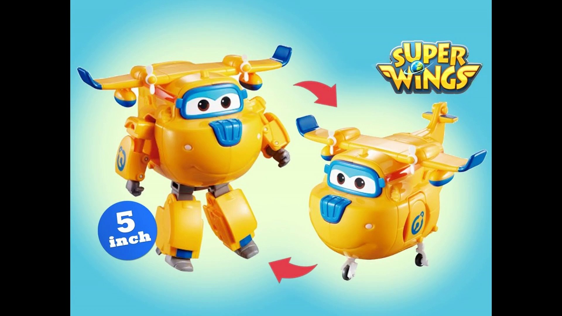 Super Wings Donnie Transforming Robot Airplane 출동슈퍼윙스 신제품 장난감 - Unboxing Demo Review
