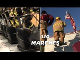 11 septembre: en hommage à leurs collègues morts, ces pompiers montent 110 marches
