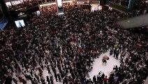HK demonstrators rock new protest anthem